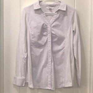 Tops - White button down maternity shirt